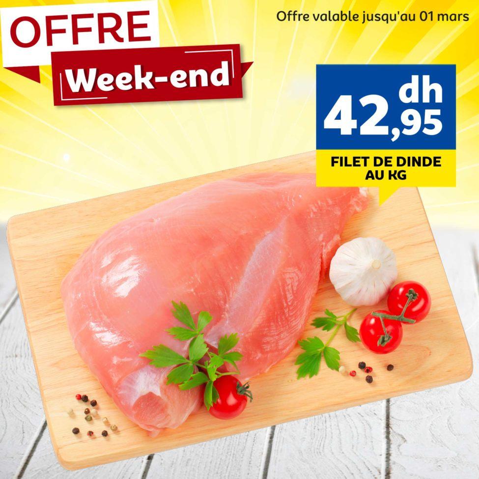 Offre Week-end Marjane tarifs préférentiels sur une sélection de produits marché