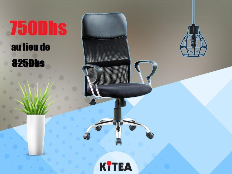 Soldes Kitea Fauteuil Président de la gamme ULYSSE 750Dhs au lieu de 825Dhs