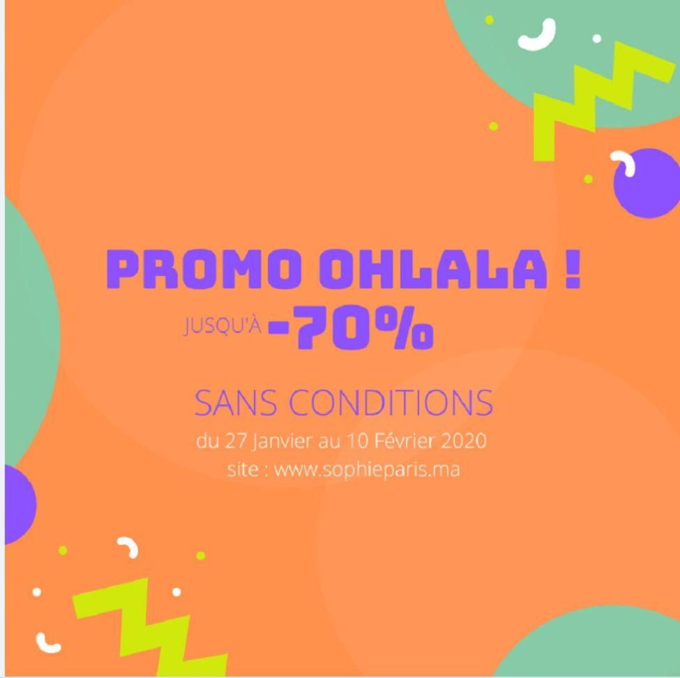 Promo OHLALA Sophie Paris Maroc sans conditions Jusqu'au -70% de remise