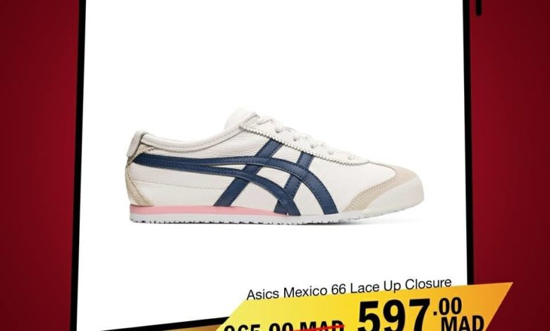 Photo of Soldes City Sport Maroc ASICS MEXICO 66 Lace UP Closure 597Dhs au lieu de 965Dhs