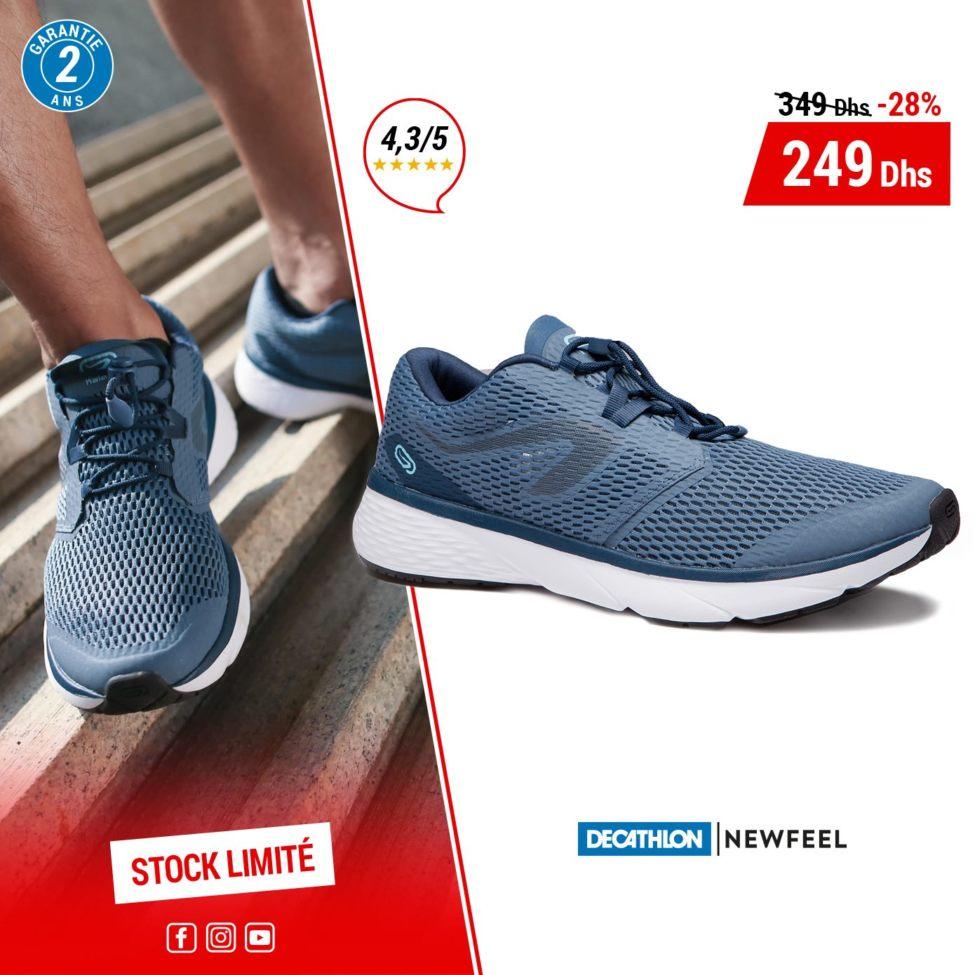 Soldes Decathlon Maroc Chaussure NEWFEEL pour homme 249Dhs au lieu de 349Dhs