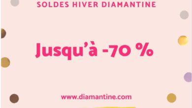Soldes d'hiver chez Diamantine des offres de folie Jusqu'à -70% de remise
