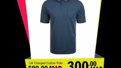 Soldes GO Sport Maroc UNDER ARMOUR Charged Cotton Polo 300Dhs au lieu de 500Dhs