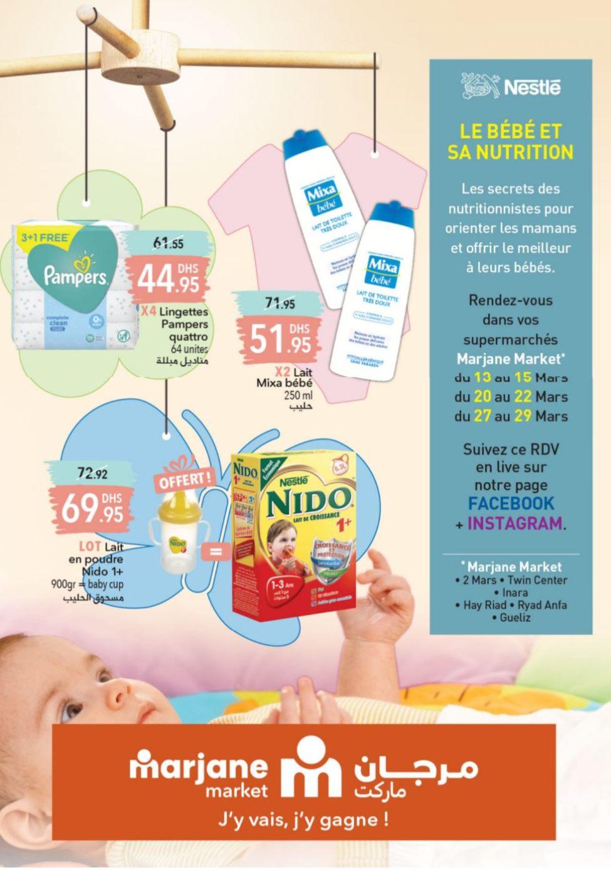 Catalogue Marjane Market le meilleur pour vos bébés du 9 au 23 Mars 2020