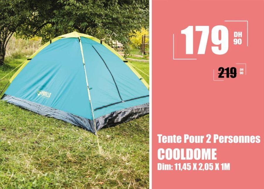 Soldes Aswak Assalam Tente Pour 2 Personnes COOLDOME 179Dhs au lieu de 219Dhs