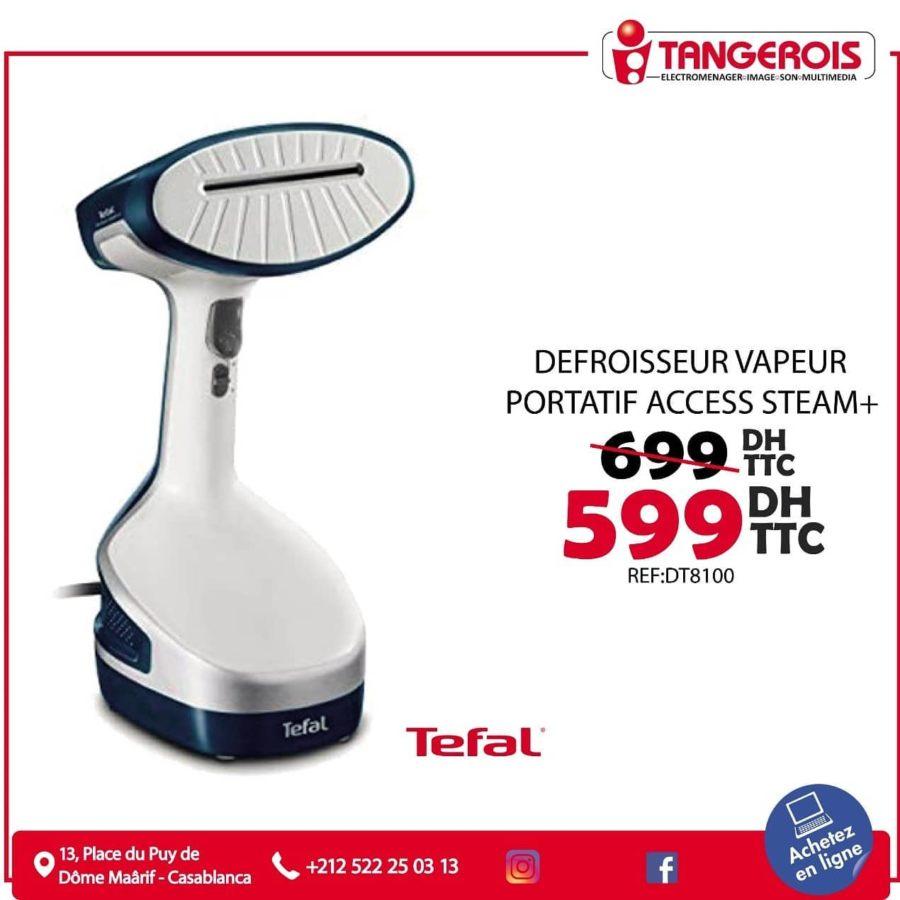 Promo Tangerois Electro Défroisseur vapeur portatif ACCESS STEAM+ 599Dhs au lieu de 699Dhs