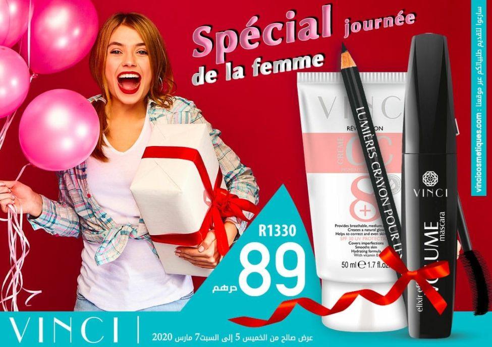 Spéciale Journée de la femme Vinci Maroc du 5 u 7 Mars 2020