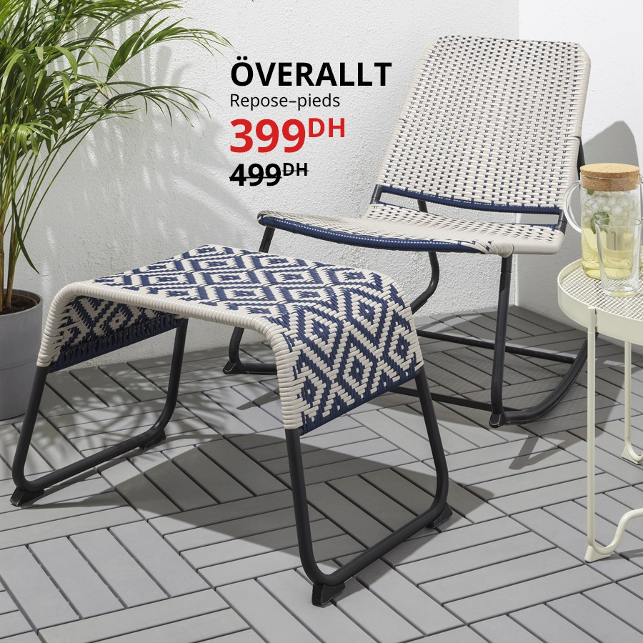 Soldes Ikea Maroc Repose-pieds OVERALLT 399Dhs au lieu de 499Dhs