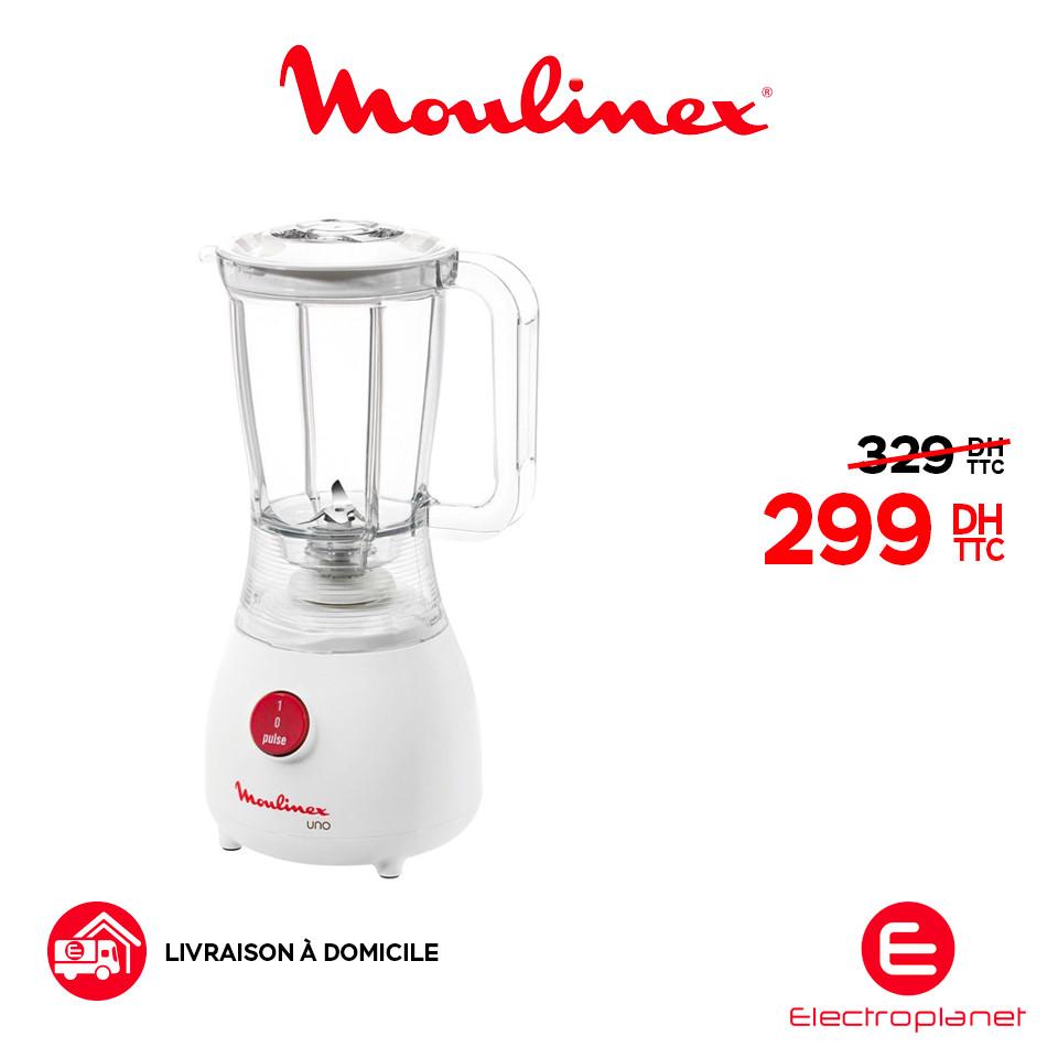 Promo Electroplanet Blender Moulinex UNO 299Dhs au lieu de 329Dhs