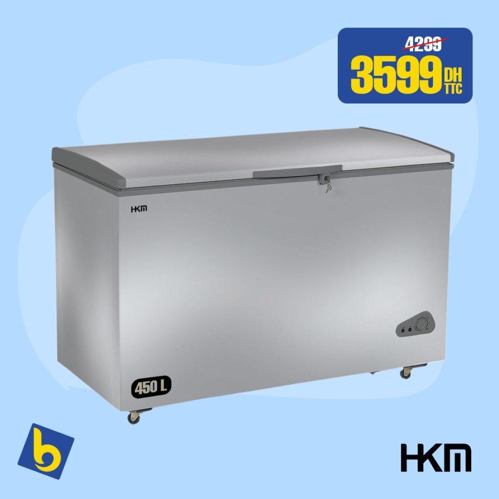 Alerte Liquidation Electro Bousfiha Congélateur HKM 440L 3590Dhs au lieu de 4299Dhs