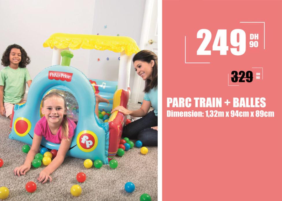 Soldes Aswak Assalam PARC TRAIN + BALLES 249Dhs au lieu de 329Dhs