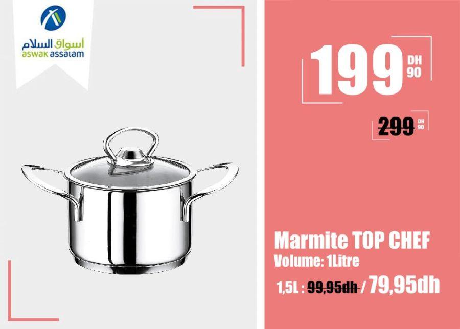 Promo Aswak Assalam Marmite 1L TOP CHEF 59Dhs au lieu de 79Dhs
