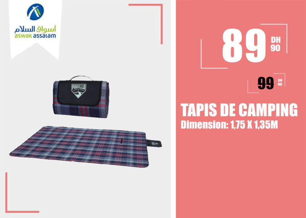 Soldes Aswak Assalam TAPIS DE CAMPING 89Dhs au lieu de 99Dhs