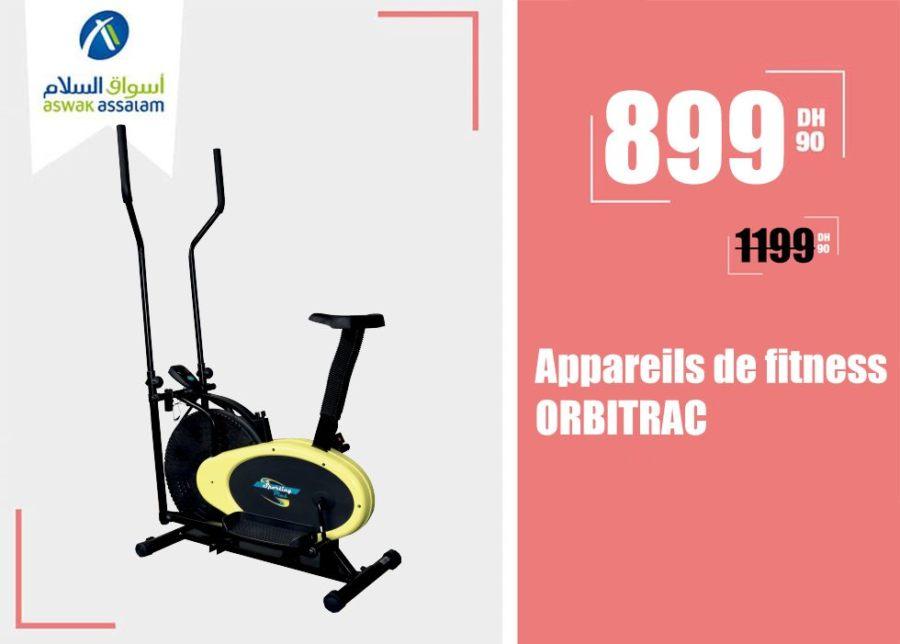 Soldes Aswak Assalam Appareils de fitness Orbitrac 899Dhs au lieu de 1199Dhs