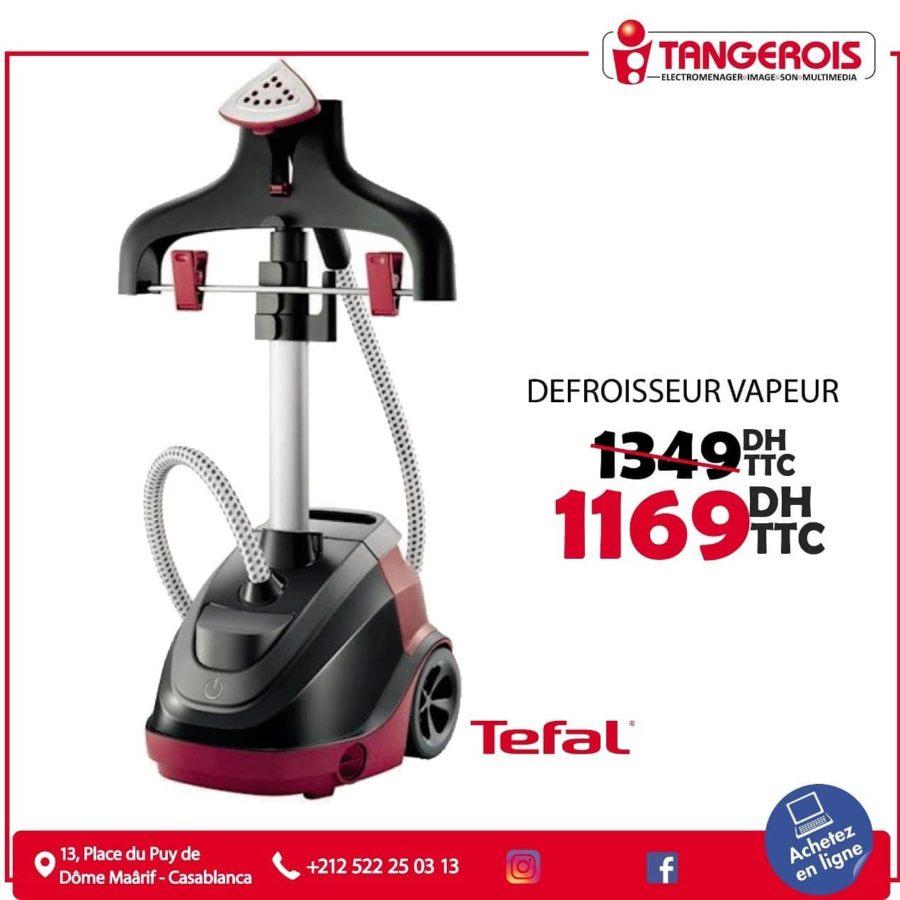 Promo Tangerois Electro Défroisseur vapeur TEFAL 1169Dhs au lieu de 1349Dhs
