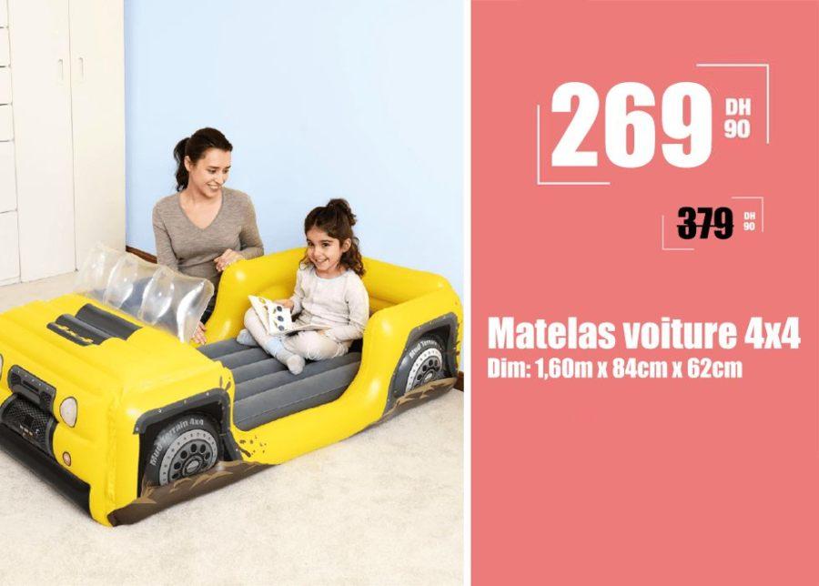 Promo Aswak Assalam Matelas voiture 4x4 269Dhs au lieu de 379Dhs