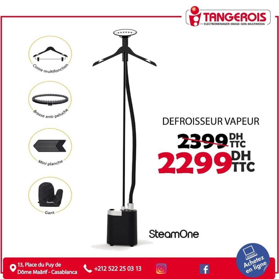 Promo Tangerois Electro Défroisseur vapeur SteamOne 2399Dhs au lieu de 2299Dhs