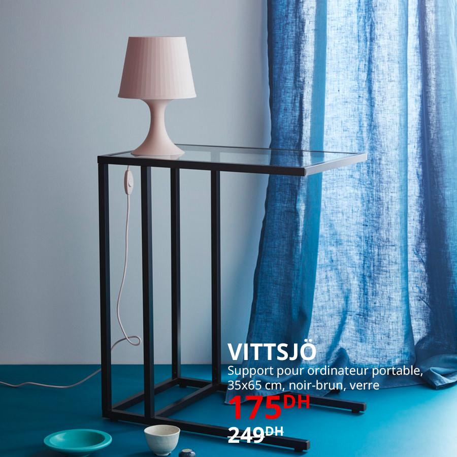 Soldes Ikea Maroc Support Laptop VITTSJO 175Dhs au lieu de 249Dhs