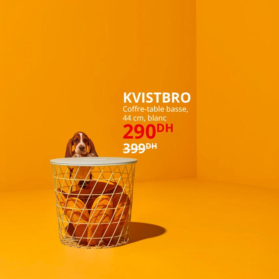 Soldes Ikea Maroc Coffre-table basse KVISTBRO 290Dhs au lieu de 399Dhs