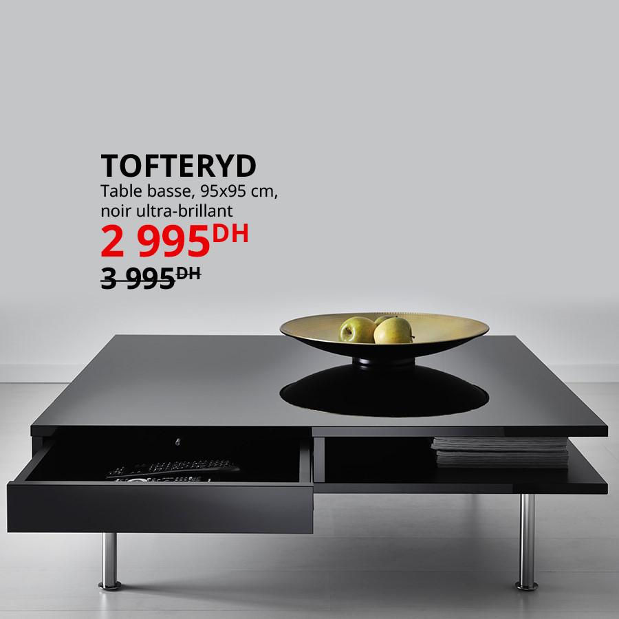 Soldes Ikea Maroc Table basse TOFTERYD 2995Dhs au lieu de 3395Dhs