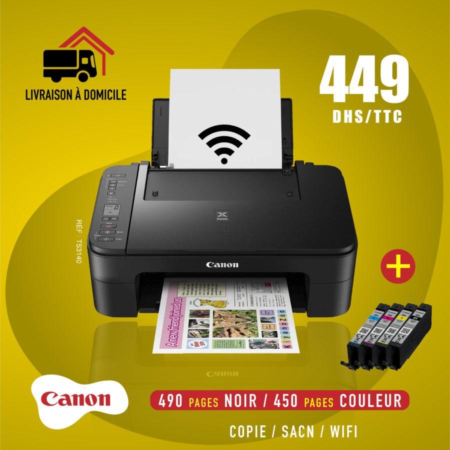 Offre en ligne Electro Bousfiha Imprimante Scan WIFI Canon 449Dhs