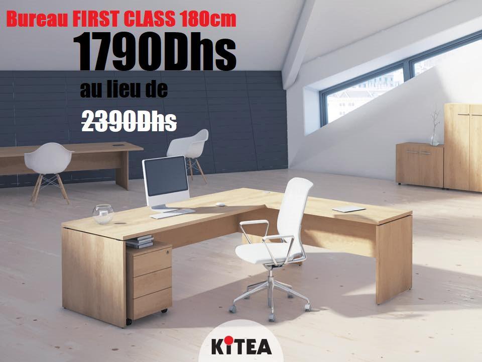 Soldes Kitea Bureau FIRST CLASS 180cm 1790Dhs au lieu de 2390Dhs TTC