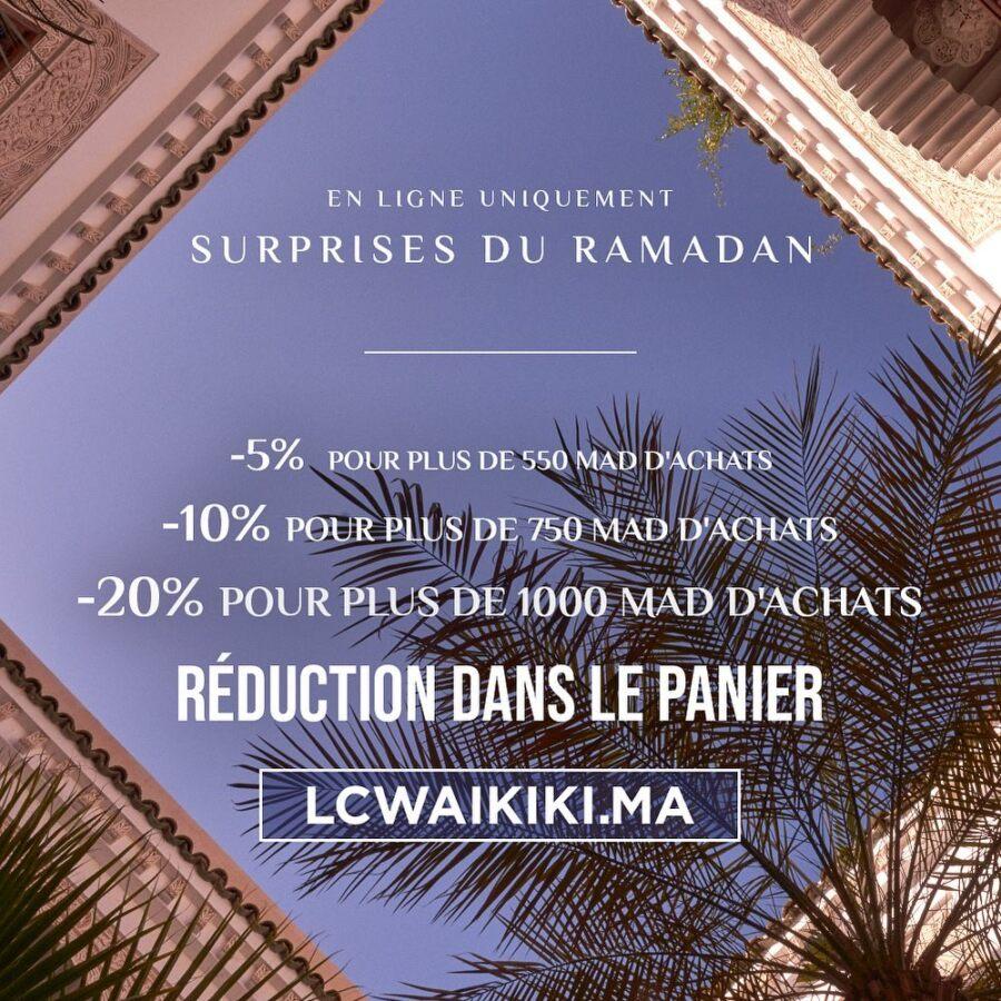 Soldes LC Waikiki Maroc Surprise Ramadan Jusqu'à 20% de remise