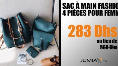 Promo Jumia Sac à main Fashion 4 pièces pour femme 283Dhs au lieu de 566Dhs