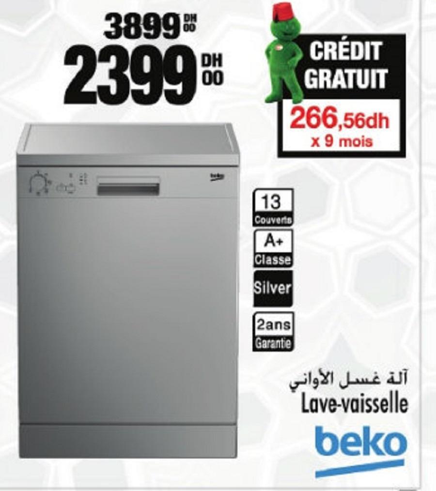 Soldes Aswak Assalam Lave-vaisselle BEKO 2399Dhs au lieu de 3899Dhs