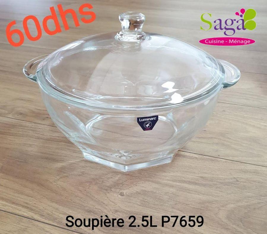 Offre Stay at home chez Saga Cuisine Soupière en verre 2.5L LUMINARC 60Dhs