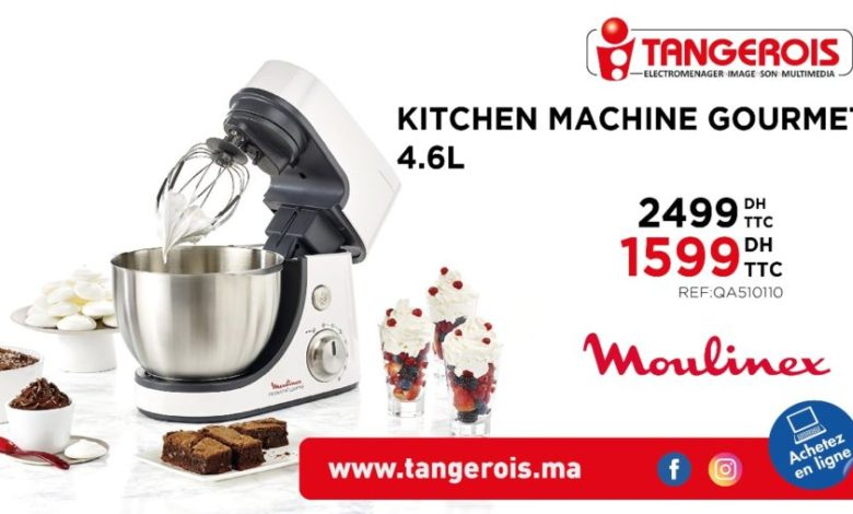 Photo of Promo Tangerois Electro Kitchen machine Gourmet Moulinex 1599Dhs au lieu de 2499Dhs