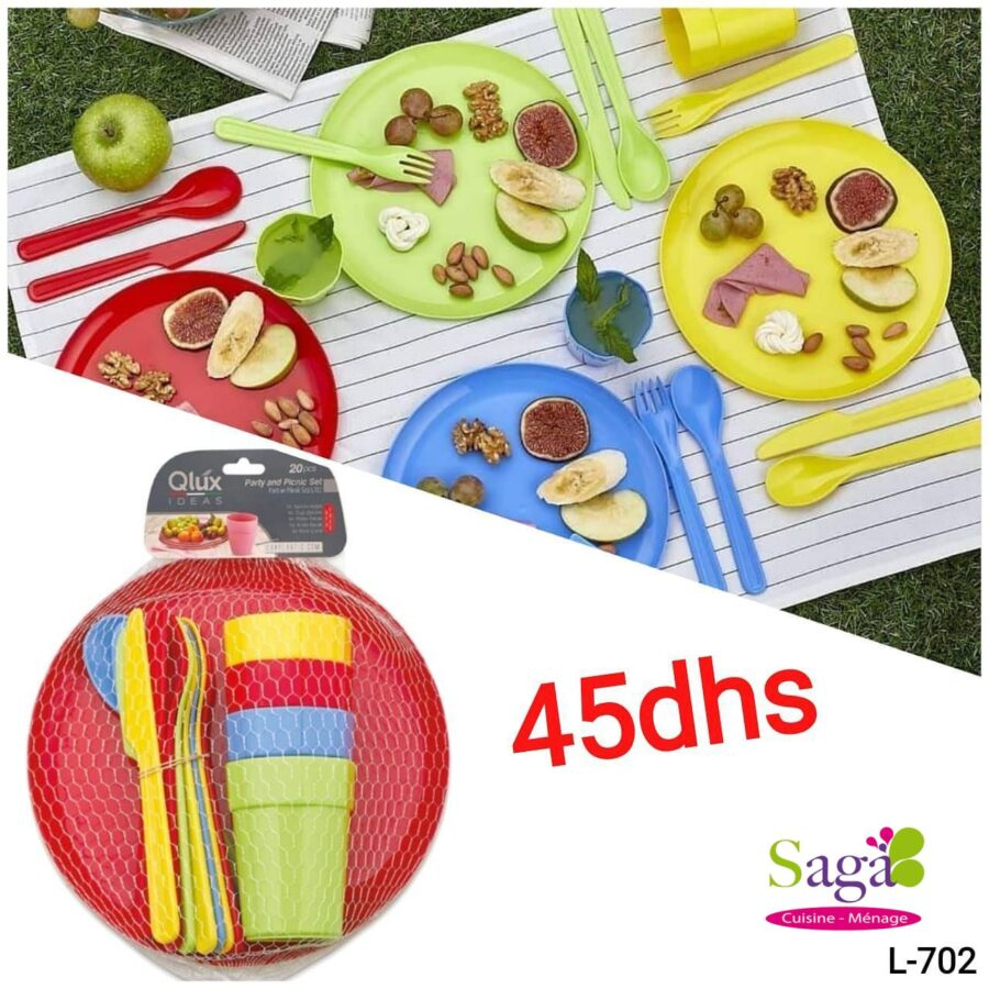 Offre Stay at Home Saga Cuisine Set Party and Picnic QLUX à 45Dhs