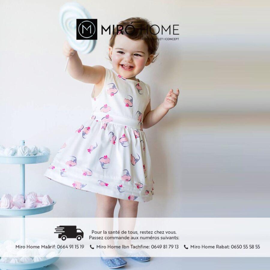 Nouvelle Collection de l'3ide chez Miro Home pour Bébé Filles de 3 mois à 2 ans