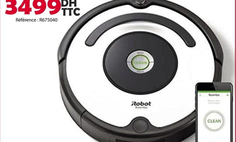 Photo of Nouveau chez Tangerois Electro Robot Aspirateur iROBOT à partir de 3499Dhs