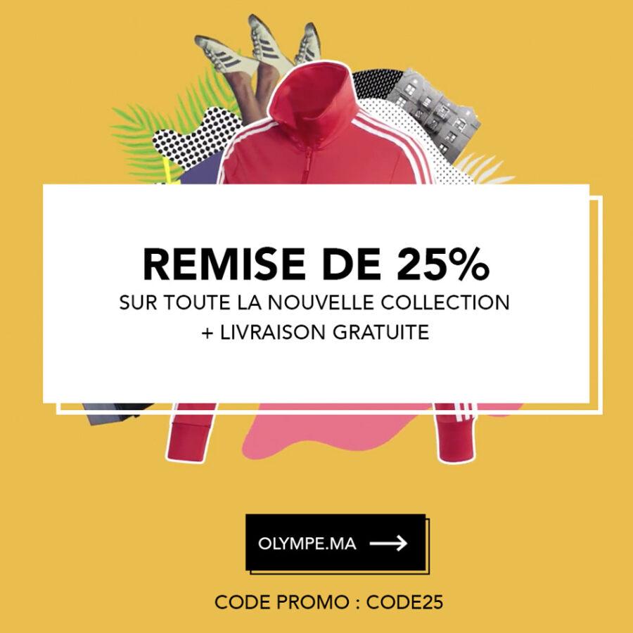 Remise de 25% + livraison gratuite chez Olympe Store sur toute la nouvelle collection