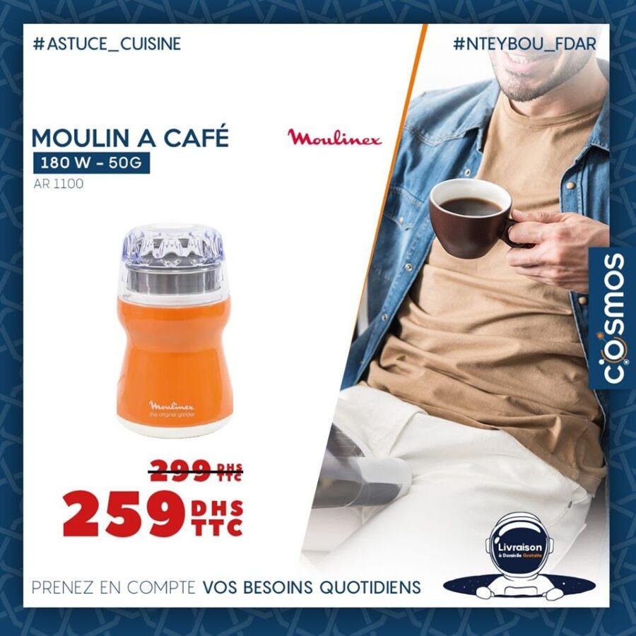 Offre Spéciale Cosmos Electro Moulin à café à partir 179Dhs