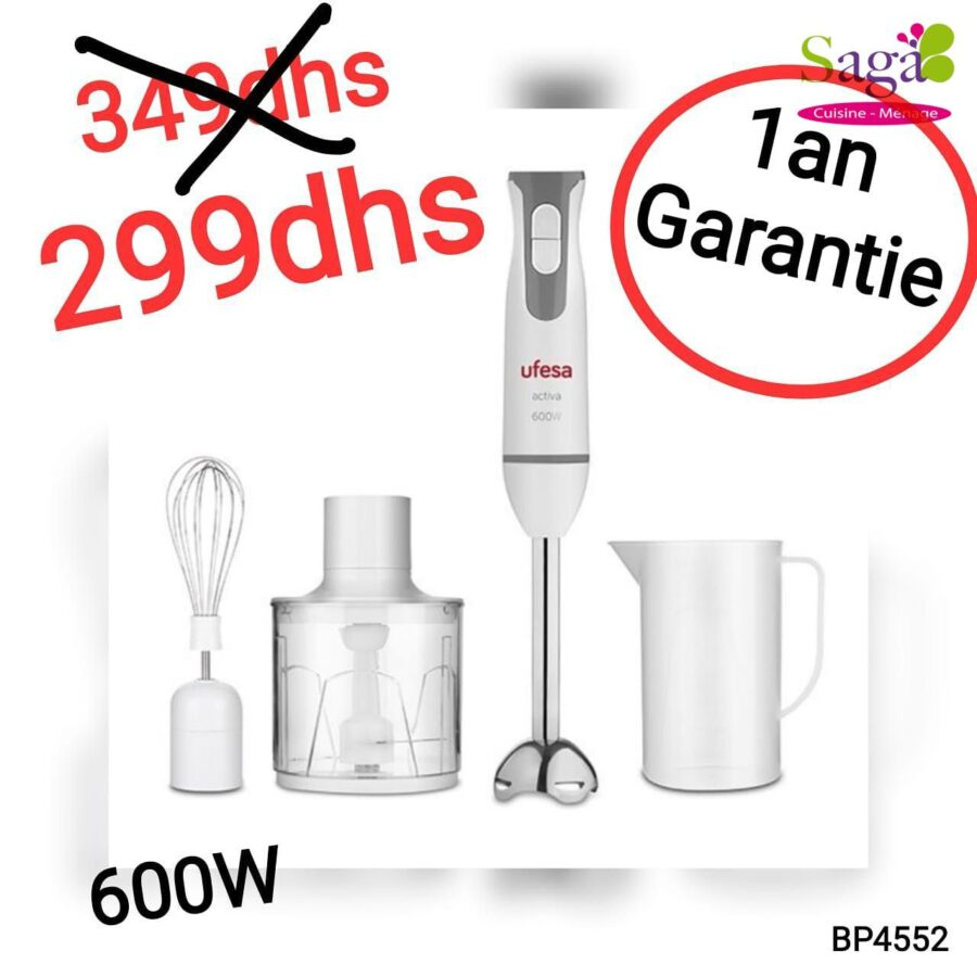 Promo Saga Cuisine Mixeur Batteur UFESA 299Dhs au lieu de 349Dhs