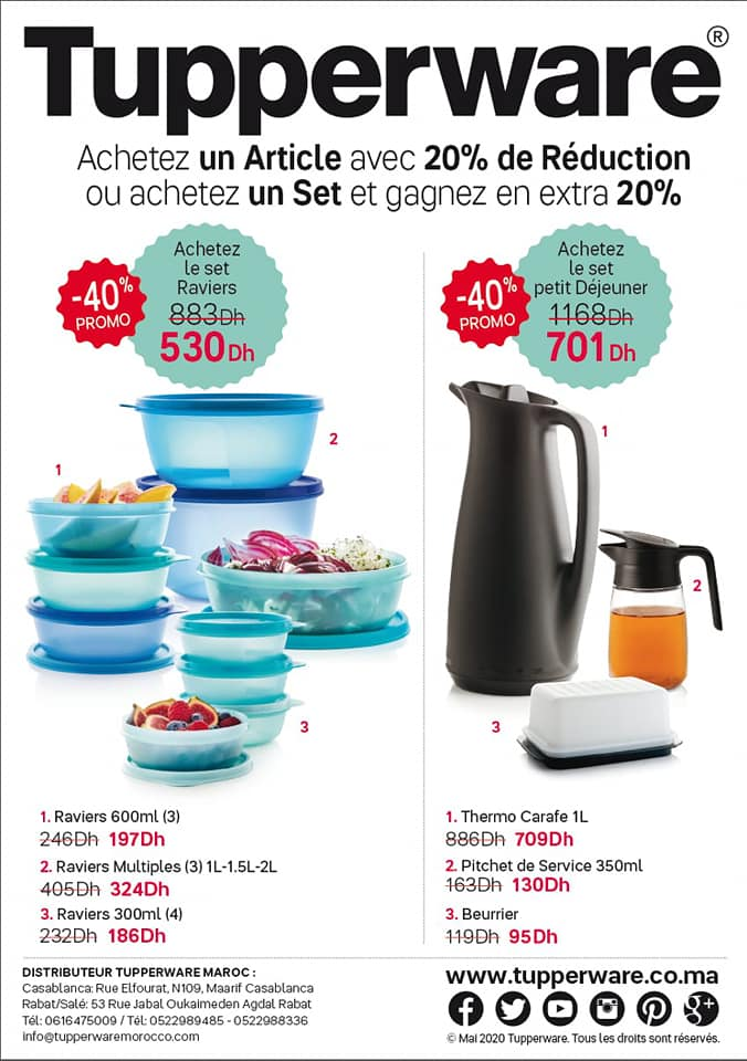 Catalogue Tupperware Maroc Spéciale Semaine 19 Jusqu'au 10 Mai 2020