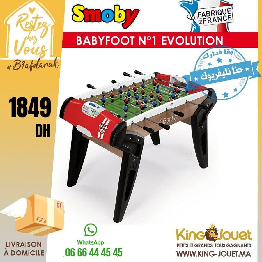 Offre King Jouet Maroc Large Sélection de BabyFoot Smoby à partir de 990Dhs