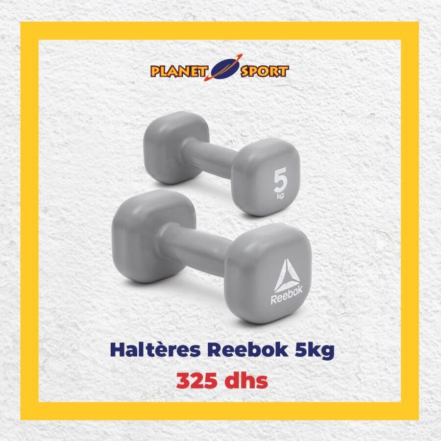Offre Stay at Home Planet Sport Spéciale Haltères Reebok à partir de 75Dhs
