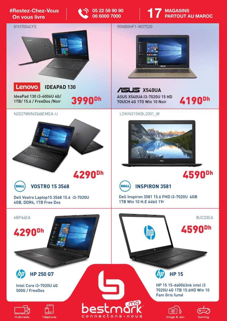 Flyer Bestmark Spéciale PC Portable Service #Stay_at_home