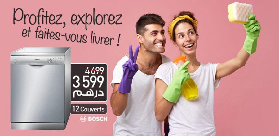 Soldes Biougnach Electro Lave-vaisselle BOSCH 12 Couverts 3599Dhs au lieu de 4699Dhs