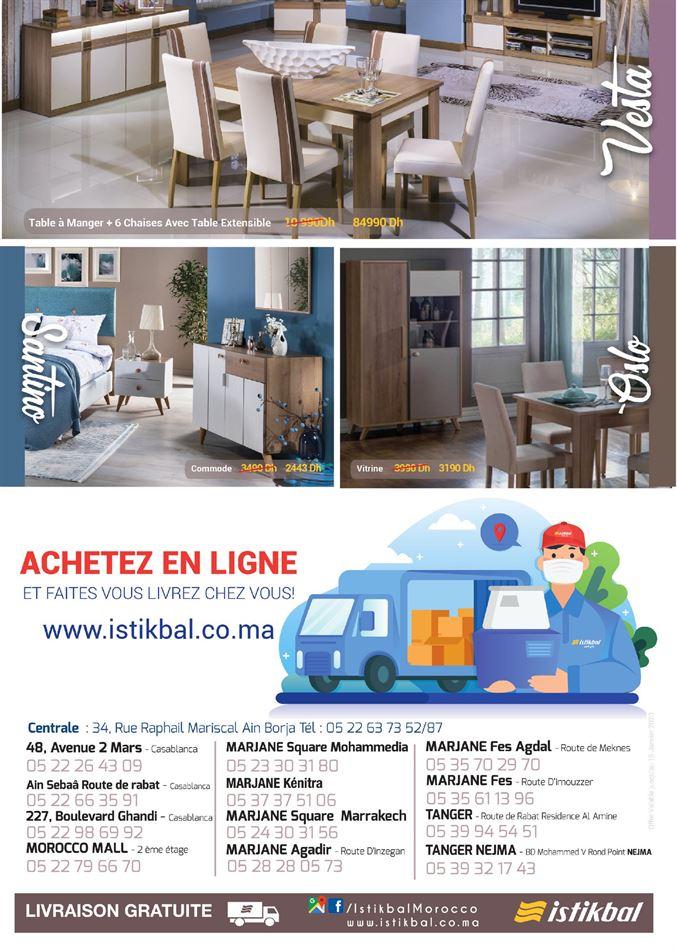 Catalogue Istikbal Maroc Le retour des prix bas du 29 Juin au 31 Août 2020