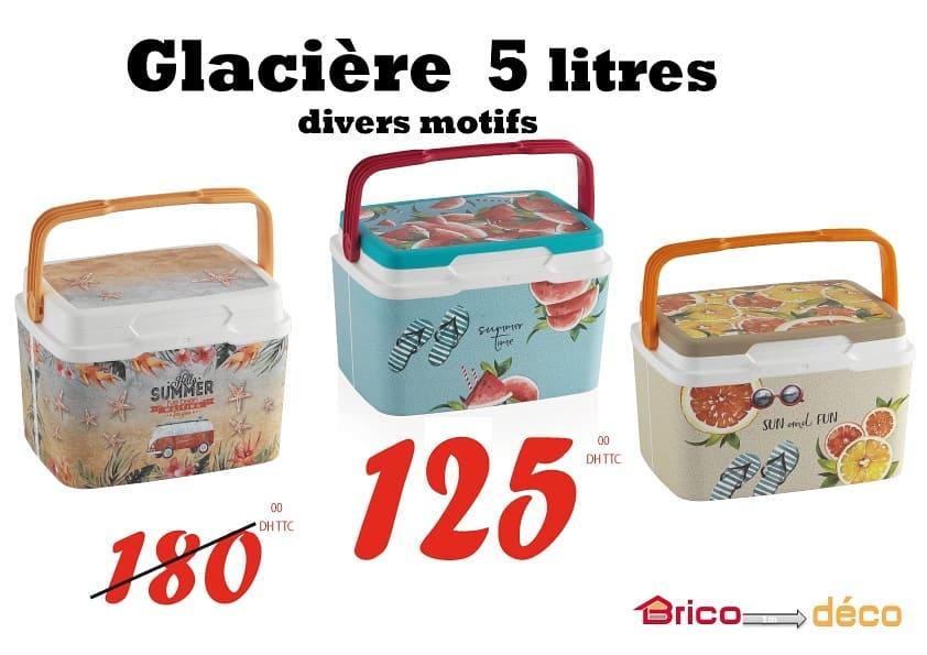 Offre fraîcheur Bricodéco Maroc Glacière 5 litres divers motifs 125Dhs au lieu de 180Dhs