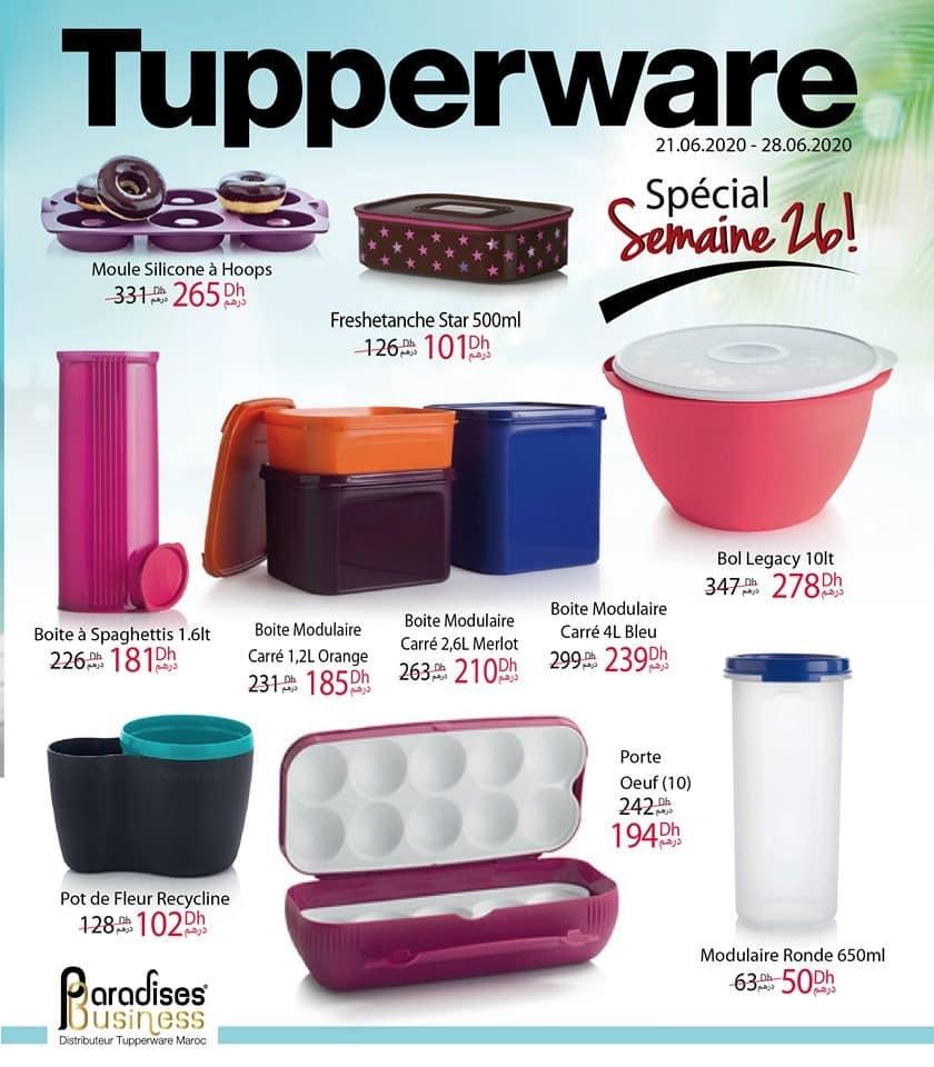Catalogue Tupperware Maroc Spéciale semaine 26 Jusqu'au 28 Juin 2020