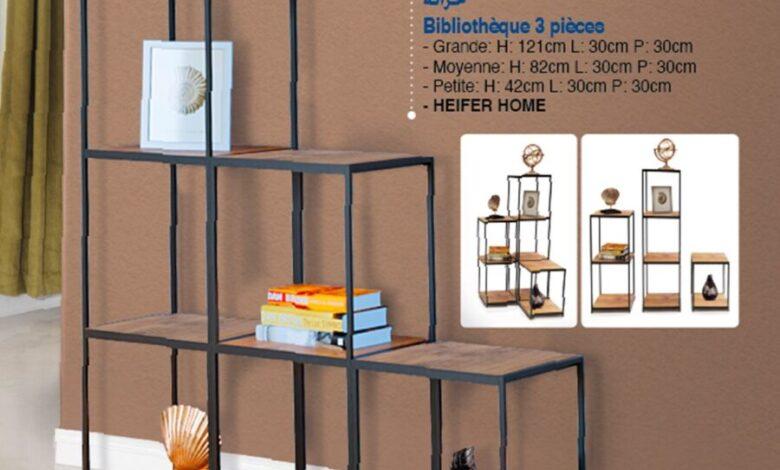 Photo of Offre déjà disponible dans les magasins Bim Maroc Bibliothèques 3 pièces 349Dhs