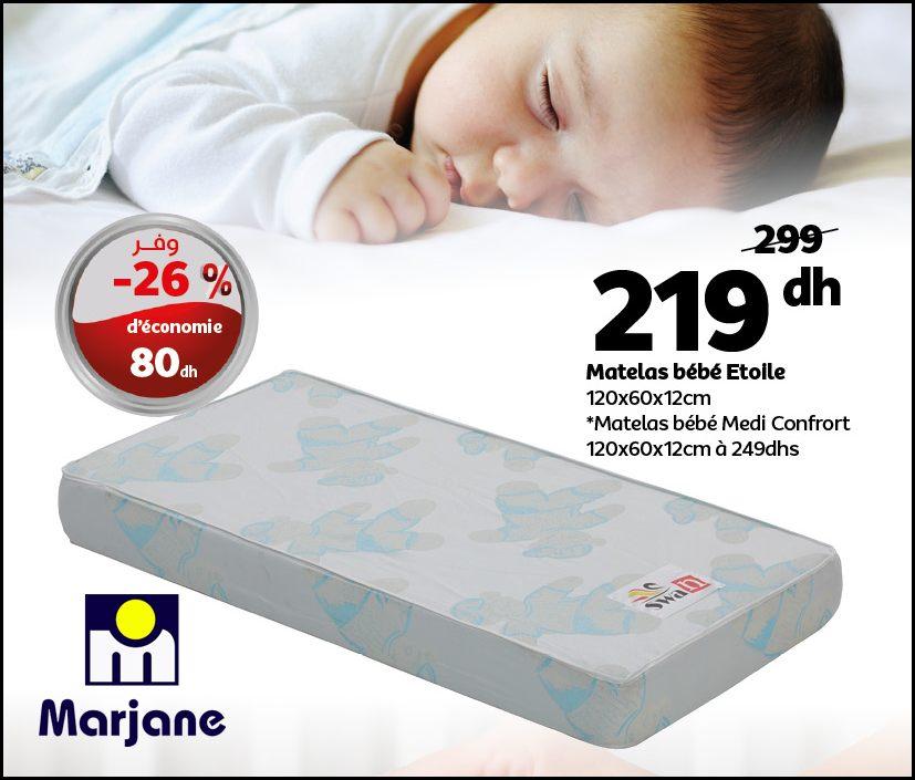Soldes Marjane Matelas pour bébé MEDI CONFORT 219Dhs au lieu de 299Dhs