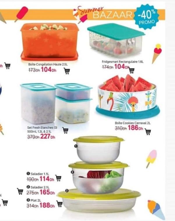 Catalogue semaines 25 chez Tupperware Maroc Summer BAZAAR Jusqu'au 21 Juin 2020