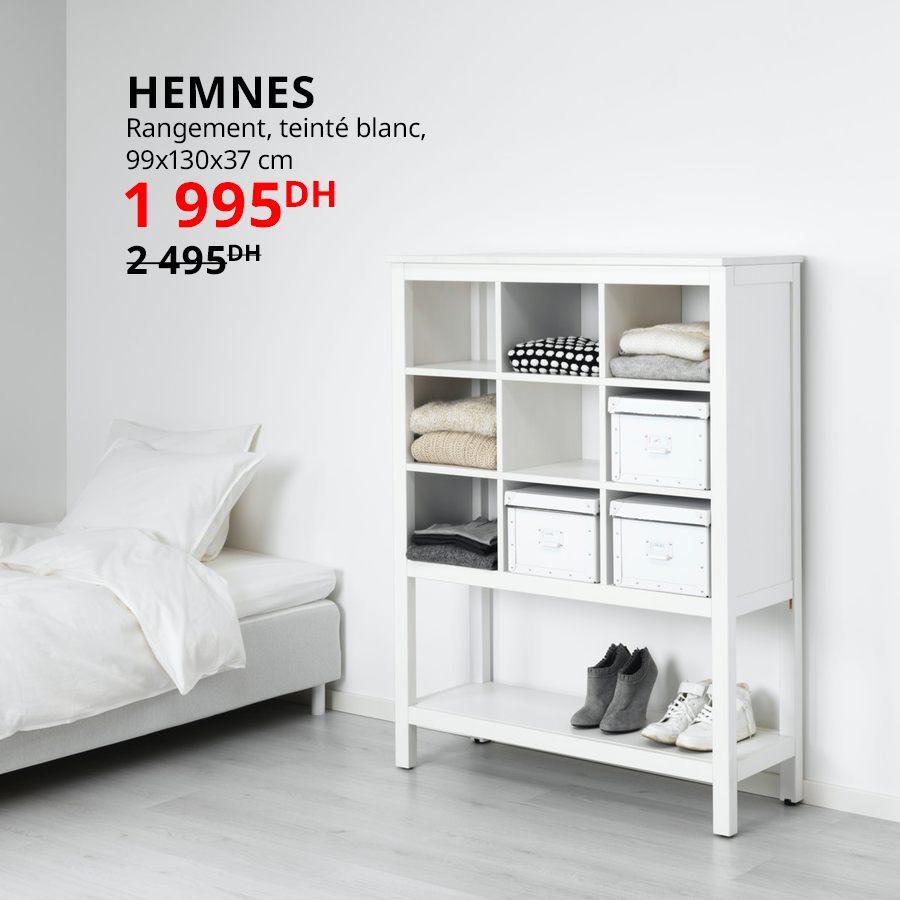 Soldes Ikea Maroc Rangement HEMNES blanc 1995Dhs au lieu de 2495Dhs