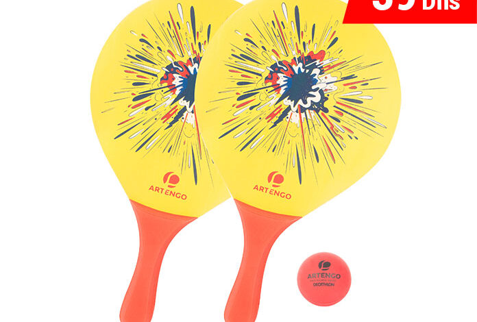 Photo of Soldes Decathlon Set Raquettes Beach Tennis ARTENGO 39Dhs au lieu de 59Dhs